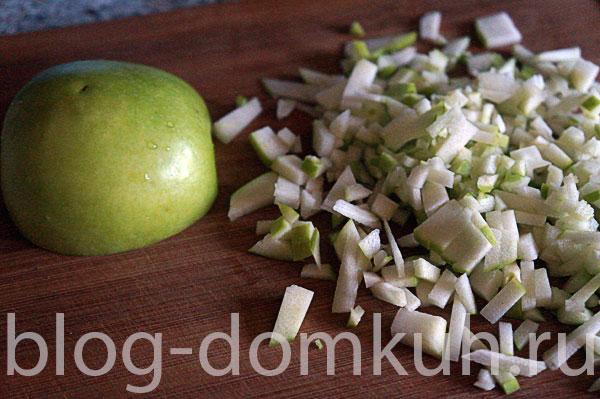 яблоко-зеленое-резаное