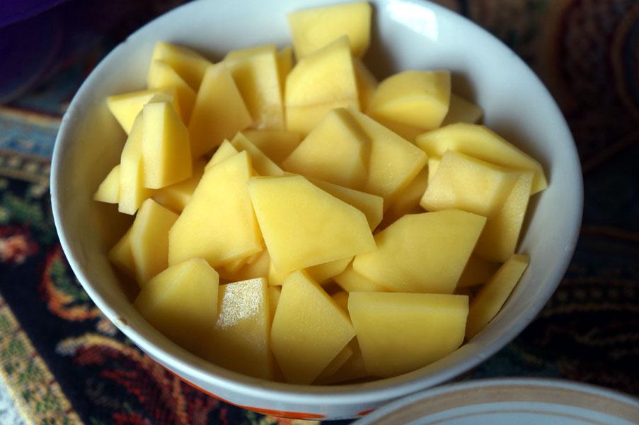 картошка-четвертинками