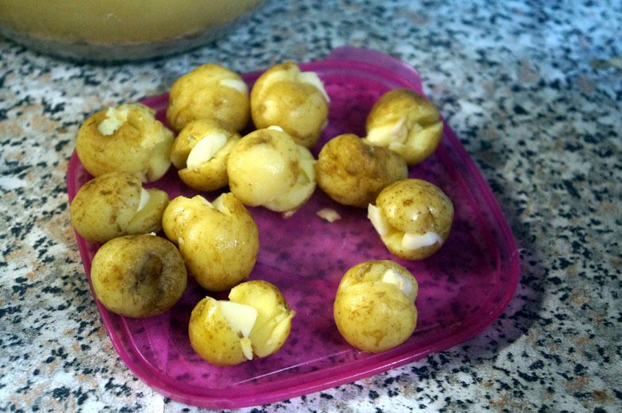 картошка-чеснок