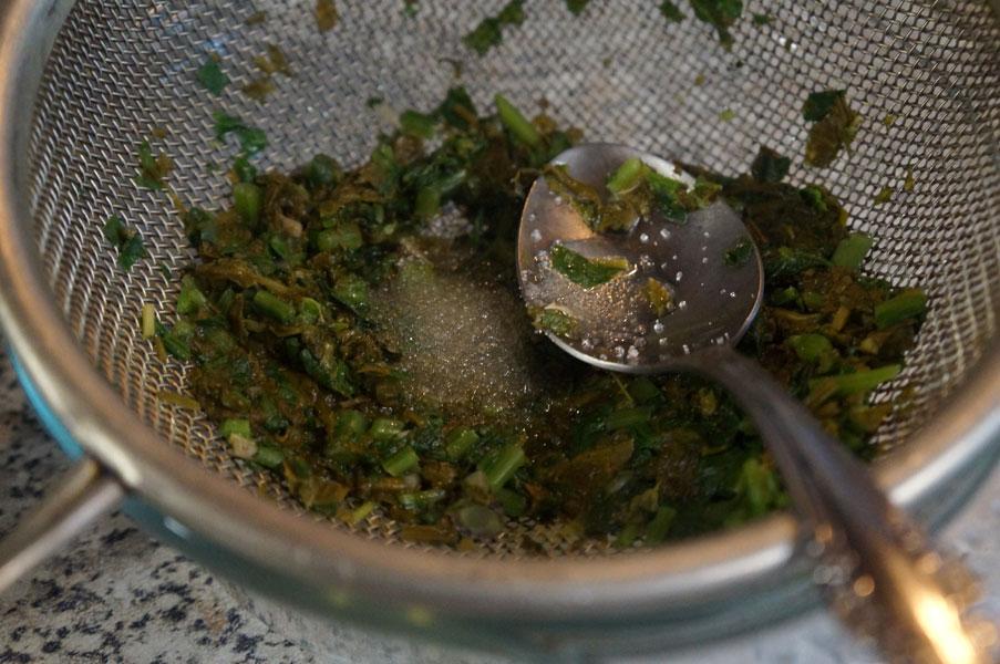 щавель-шпинат-кашица
